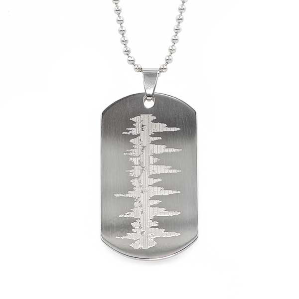 Heartbeat - Dog Tag-Necklace