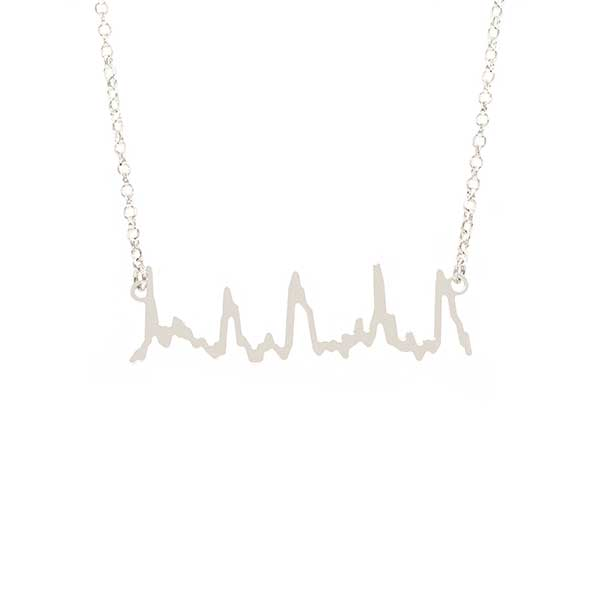 Heartbeat - Necklace Silver