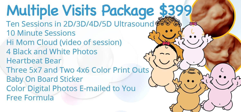 Hi Mom Ultrasounds Multiple Visits Package